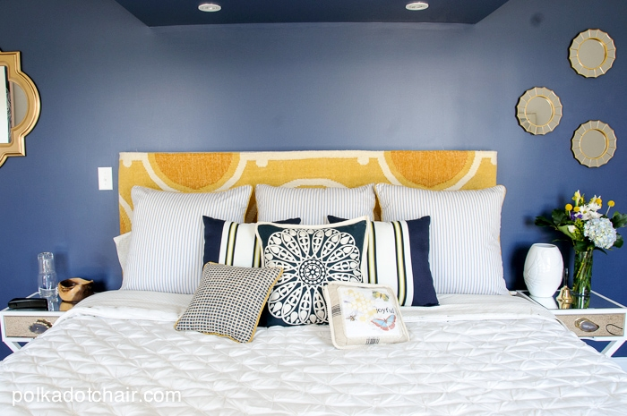 Navy And Gold Guest Bedroom Ideas, Guest Bedroom Colors