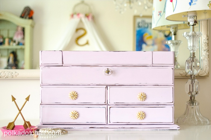 Jewelry Box Redo using Chalky Finish Paint