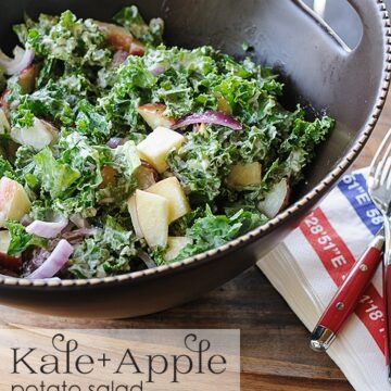 Kale and Apple Potato Salad Recipe on polkadotchair.com