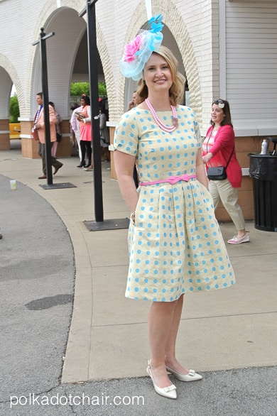 A Polka Dot Dress and the Kentucky Derby on polkadotchair.com