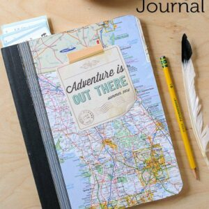 "DIY Summer Journal and Free ""Adventure is Out There"" Printable on polkadotchair.com"