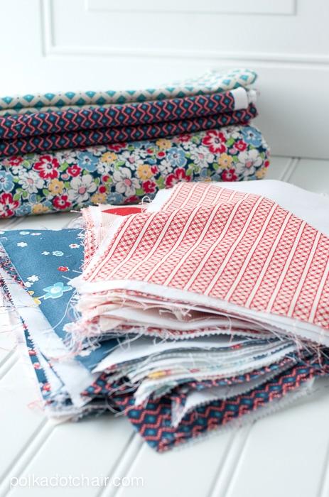 Pinwheel quilt in progress