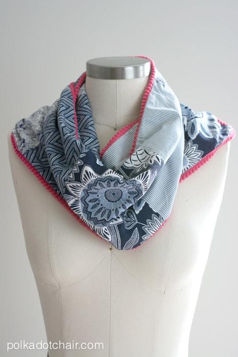 Patchwork Scarf Sewing Tutorial on polkadotchair.com