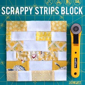 Scrappy Strips Quilt Block Tutorial on polkadotchair.com