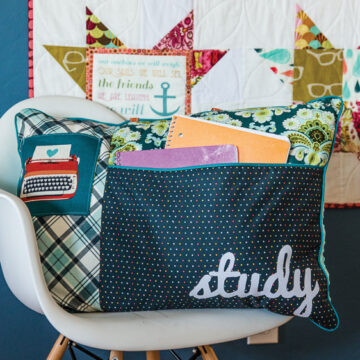 Study Pillow Sewing Pattern- love the pockets!