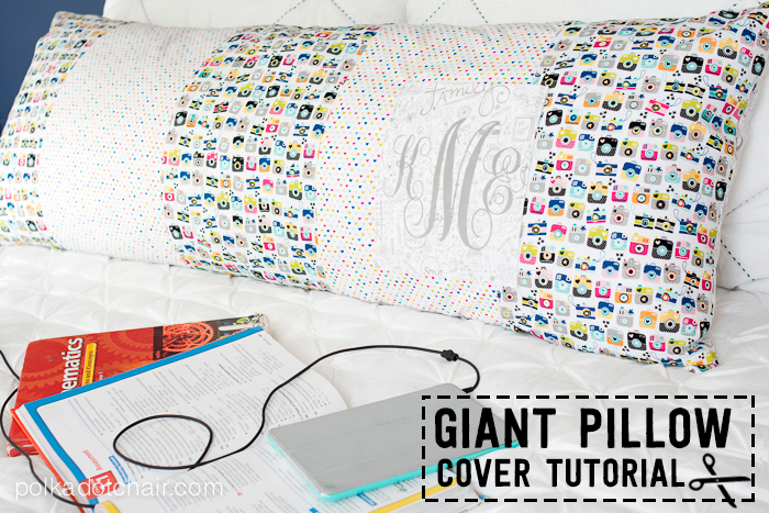 Giant Pocket Pillow Sewing Tutorial by Melissa Mortenson of polkadotchair.com