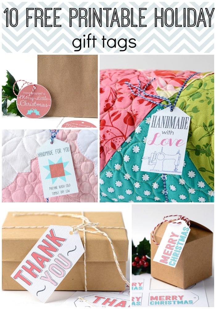 10 Free Printable Holiday Gift Tags