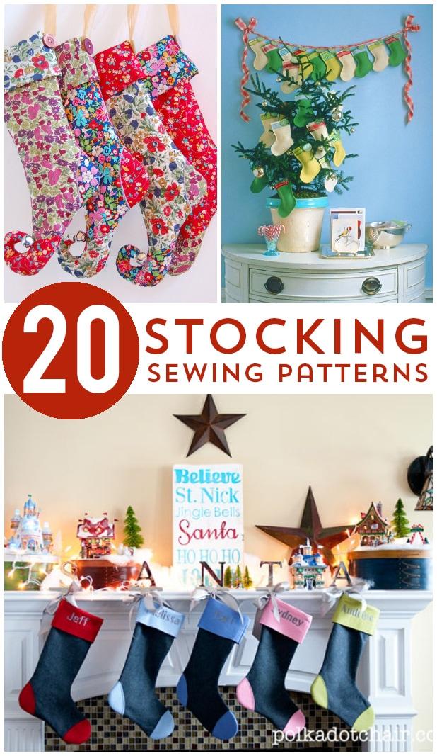 20 Christmas Stocking Sewing Patterns