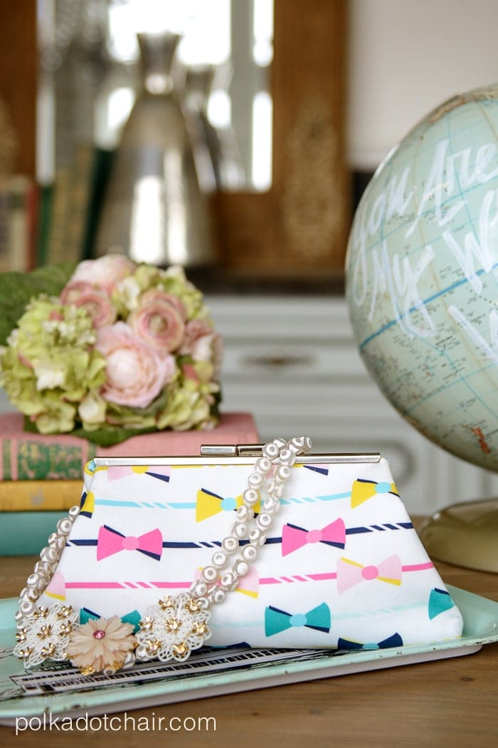 Clutch made from Derby Style Fabric