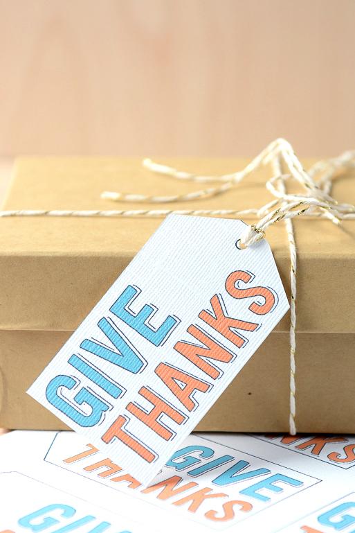 Give Thanks Free Printable Gift Tag