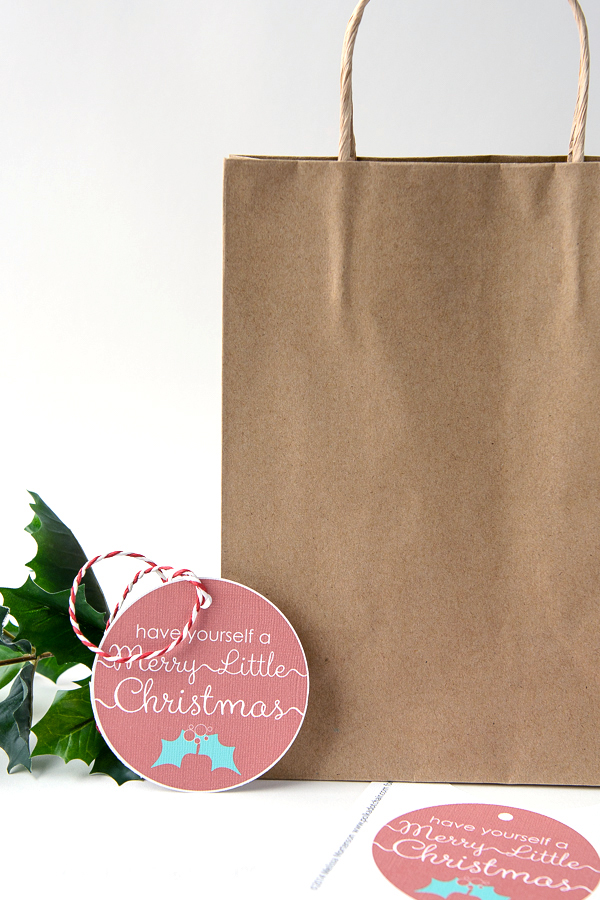Have Yourself a Merry Little Christmas Free Printable Gift Tag
