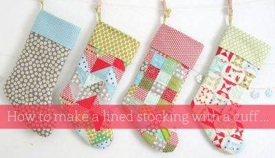 Lined Stocking with a Cuff @ Cluck Cluck Sew