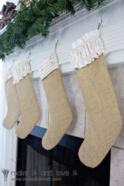 Burlap Christmas Stocking