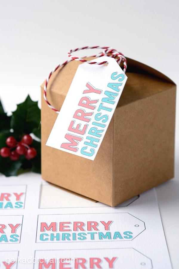Merry Christmas Free Printable Gift Tags