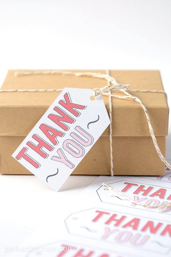 Thank You Free Printable Gift Tag