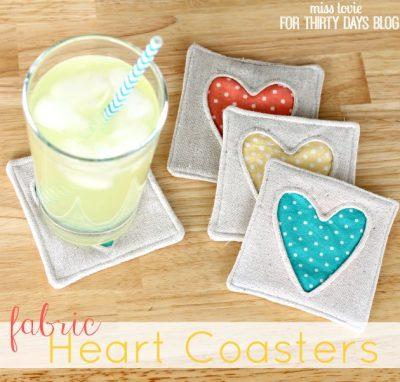 Fabric Heart Coasters