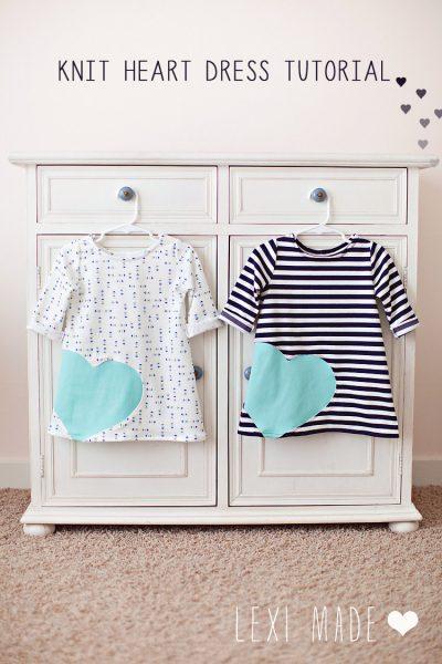 Knit Heart Dress Sewing Tutorial