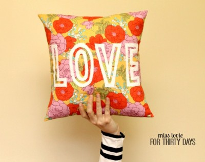 Floral LOVE Pillow Sewing Tutorial