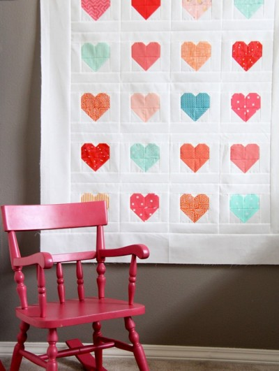 Simple Heart Quilt Tutorial, Cluck Cluck Sew