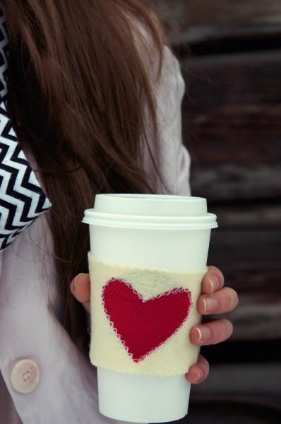 DIY Heart Mug Cozy