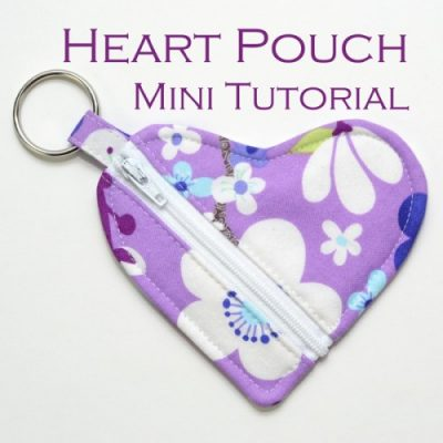 Heart Pouch Sewing Tutorial with zipper