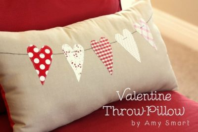 Valentines Day Heart Pillow Sewing Tutorial