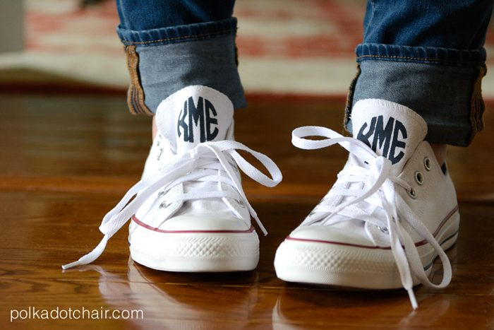 How to monogram your converse!