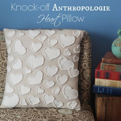Knock off Anthropologie Heart Pillow