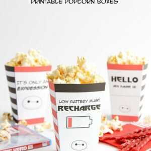 Big Hero 6 Movie Night Printables