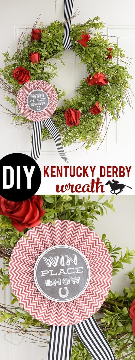 DIY Kentucky Derby Wreath- cute decoration for Derby Day!