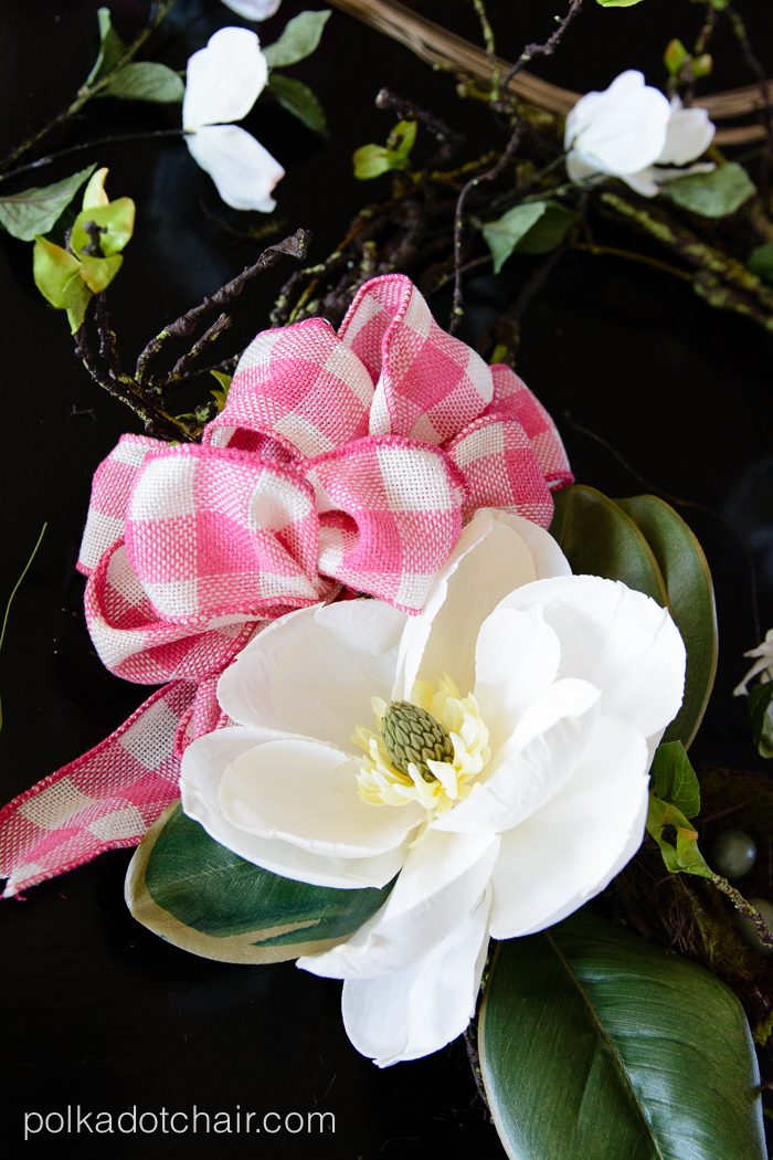 How to make a cute Magnolia Spring Wreath