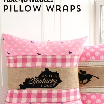 How to use ribbon and burlap to make Pillow Wraps