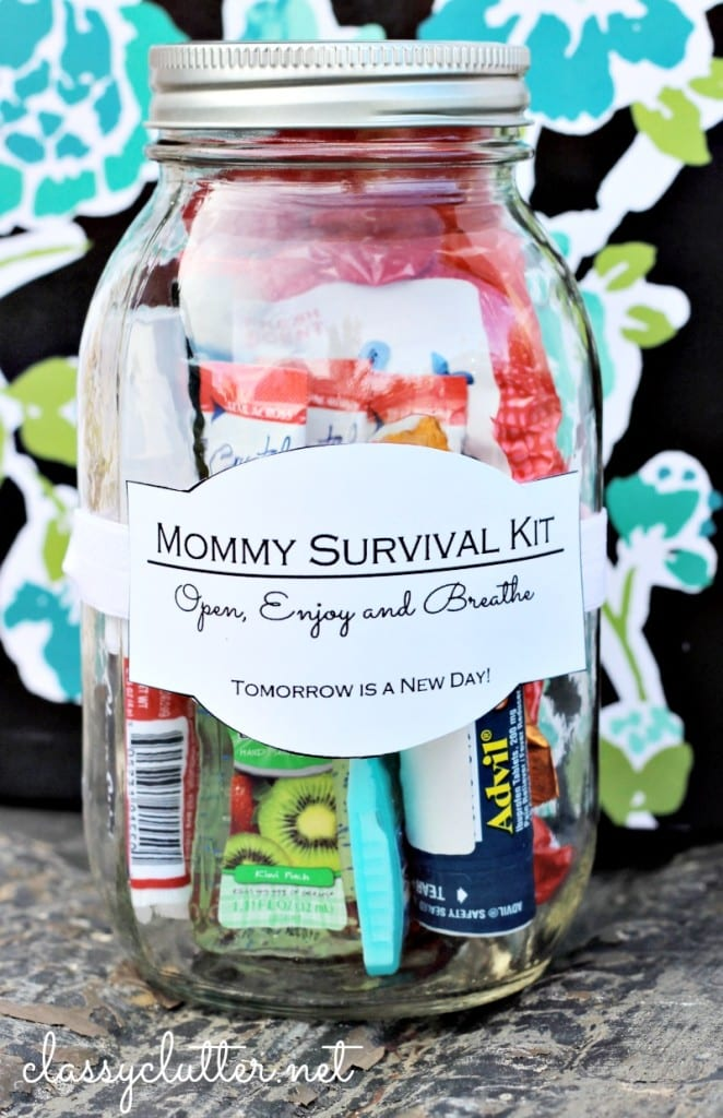Mommy Survival Kit - such a cute gift idea