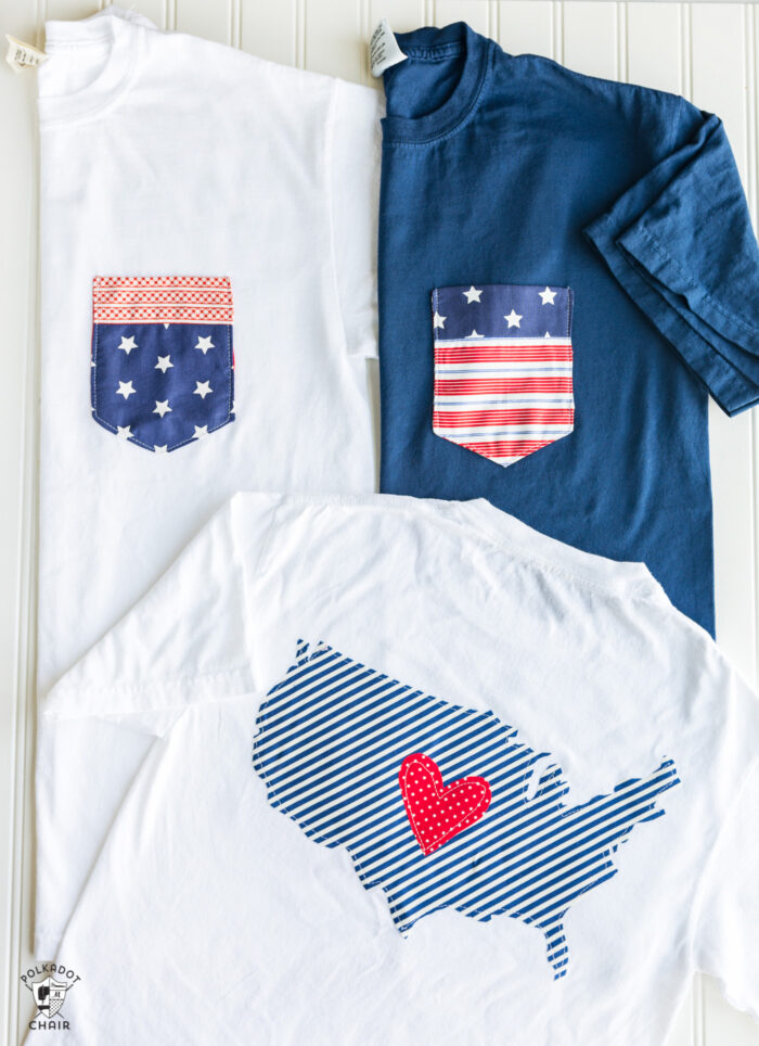 Patriotic t-shirt | Memorial Day Crafts You Can Make To Show Your Patriotism | Sewing.com