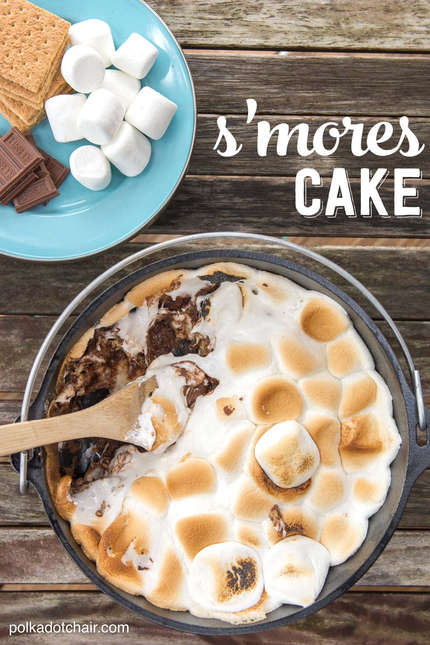 Super easy recipe for S'mores cake!