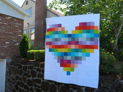 Pixelated Heart Quilt
