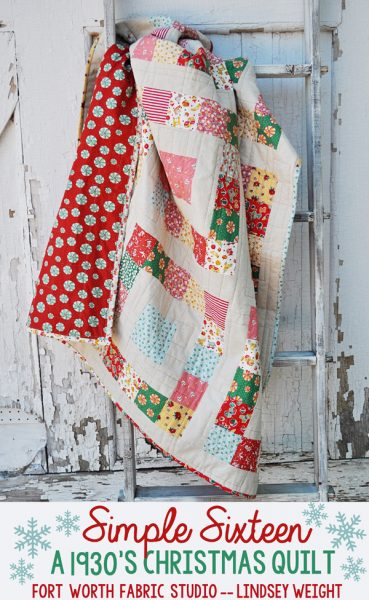 Simple Sixteen Quilt Tutorial