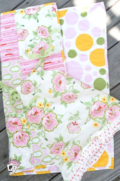 Baby Quilt and Dress made from Fat Quarters