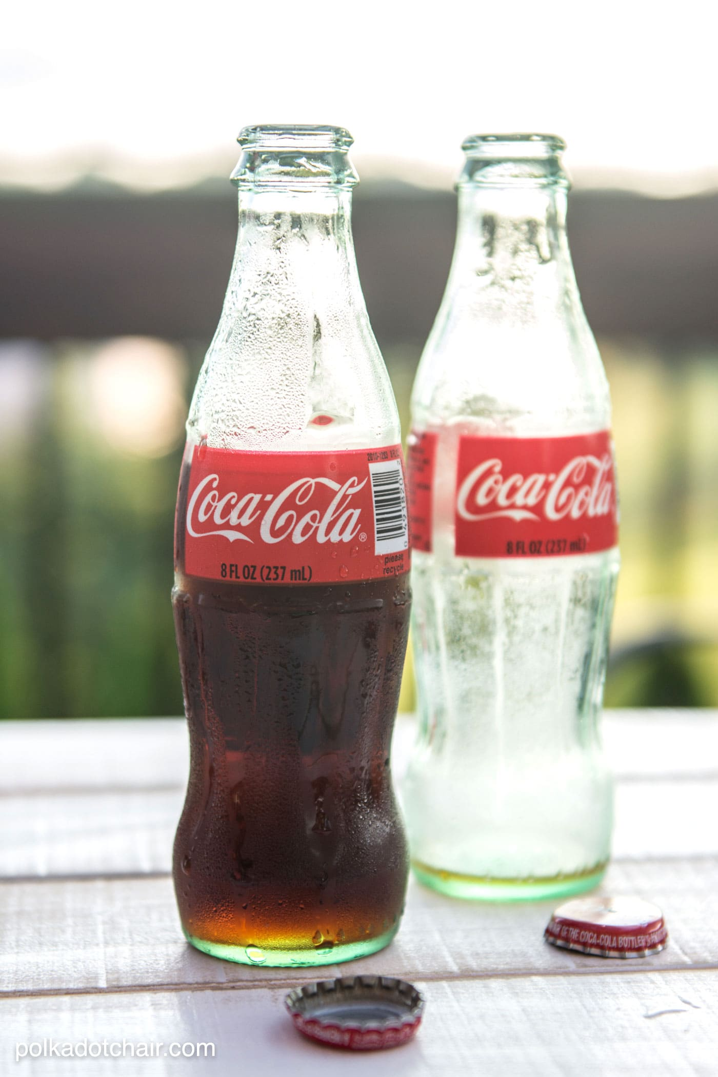 DIY tabletop s'mores maker made from upcycled Coca-Cola bottles