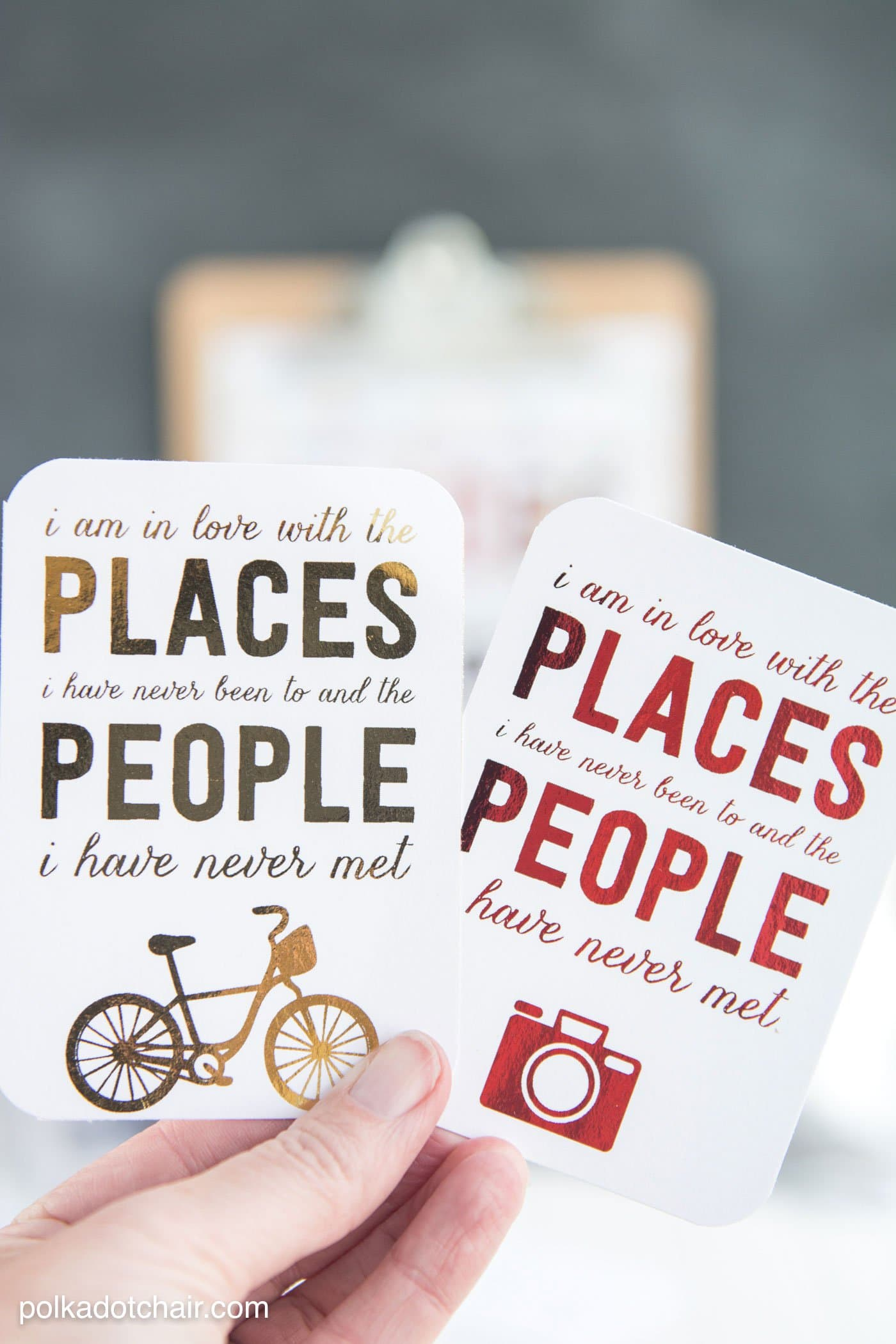 Free travel themed printables perfect to use with a foil applicator machine... lots of great travel scrapbooking ideas too.