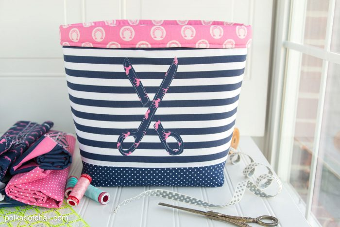 """""""Never Full"""" Fabric Basket Sewing Tutorial by Melissa of polkadotchair.com"""