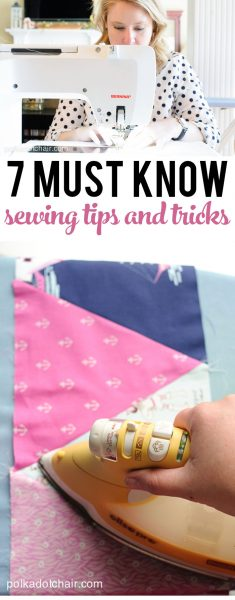 7 sewing Tips and Tricks, great read especially if you are a new seamstress, or learning how to sew.