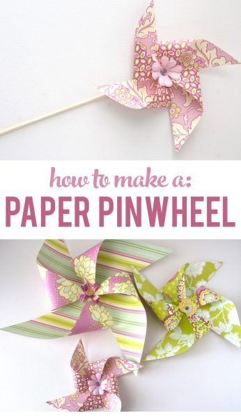 How to make a Paper Pinwheel, a really cute idea to decorate a kids room, or you could use it as a party decoration.