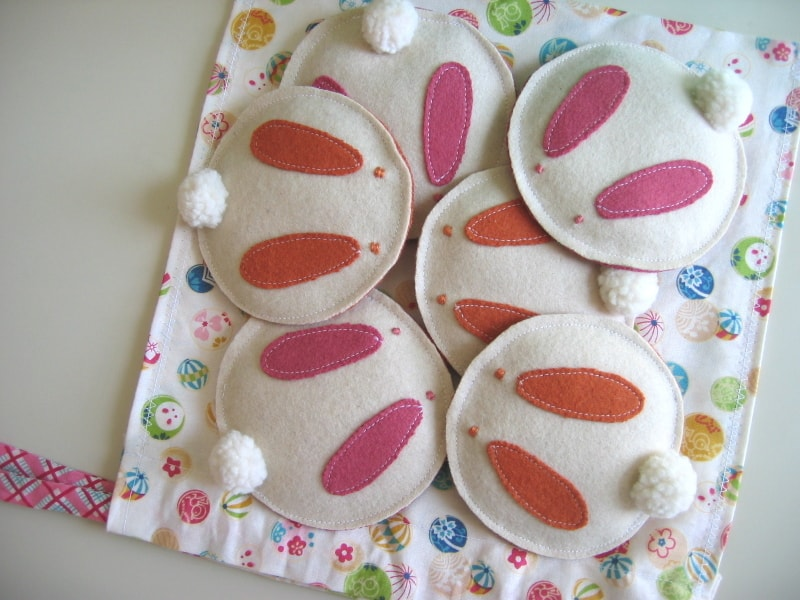 Easter Bunny Felt Softies Pattern