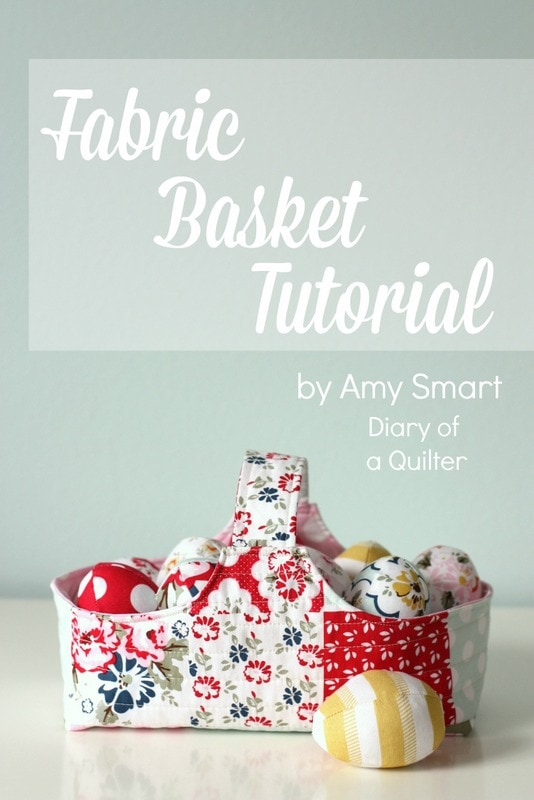 Fabric Basket Sewing Tutorial by Diary of a Quilter