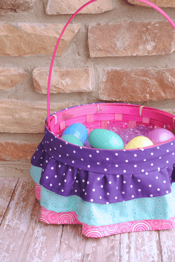 Ruffled Easter Basket Liner by Crazy Little Projects