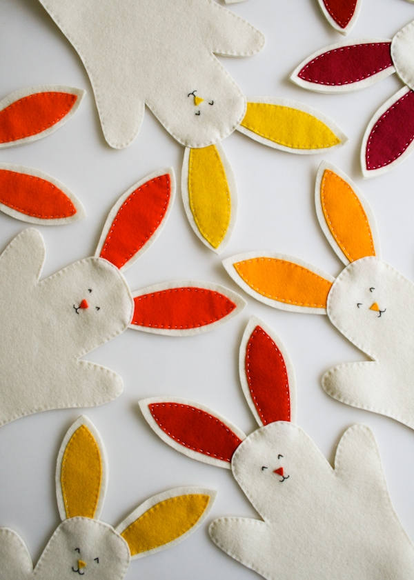 Easter Bunny Puppets Sewing Pattern by Purl Soho