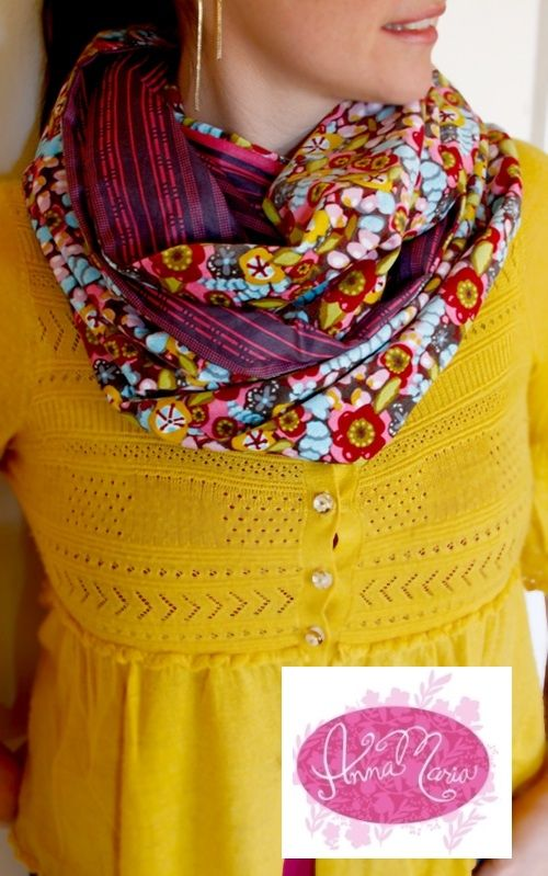 Anna Maria Horner Figure 8 Infinity Scarf Sewing Tutorial