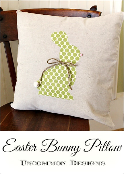 Easter Bunny Pillow Sewing Pattern Uncommon Designs