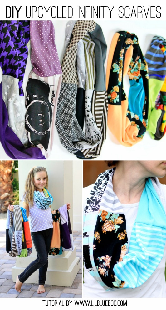 Upcycled T-Shirt Scarf Sewing Tutorial